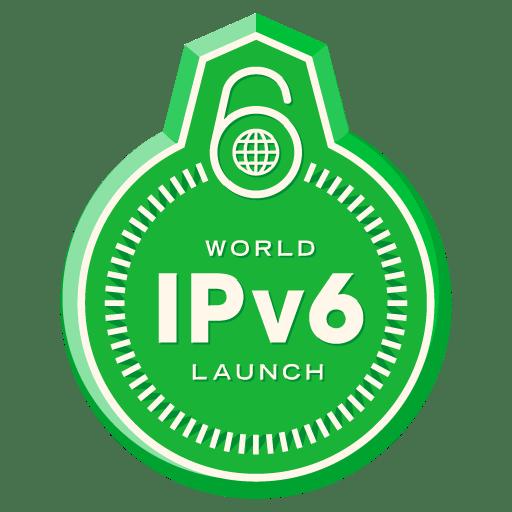 World IPv6 Launch badge (transparent)
